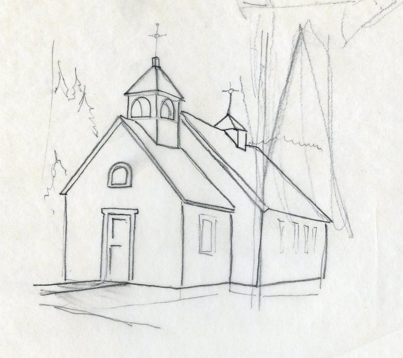 Sketch of Chenega Russian Orthodox Church