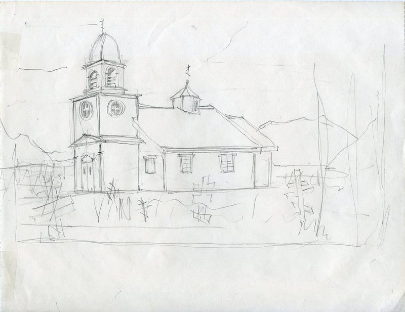 Sketch of Ascension of Our Lord Chapel Russian Orthodox Church