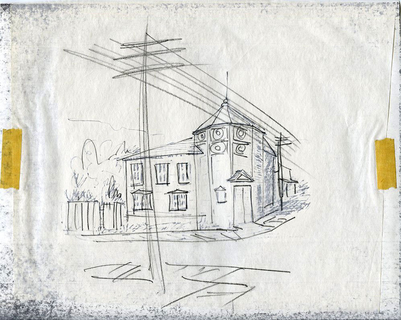 Sketch of Dawson Post Office