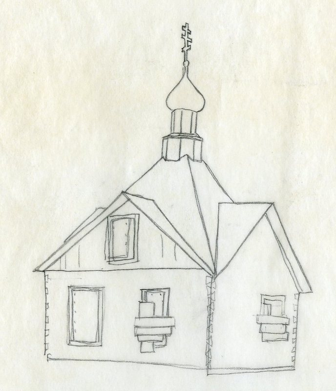 Sketch of Saint Nicholas Memorial Chapel<br />