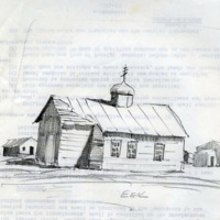 Sketch of St. Michael Russian Orthodox Church