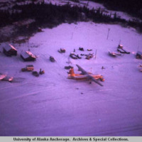 Aerial view of Dillingham airport