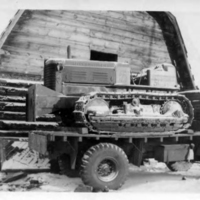 Truck carrying Allis Chalmers crawler