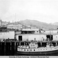 "The ""Prince of Wales"" moored at the Ketchikan docks, 1924"