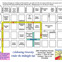 Pride Parade route, 2001