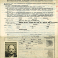 Application and permit to enter Alaska, May 1943