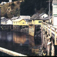 Creek Street in Ketchikan, 1941
