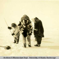 Setting a seal net under ice, 1927