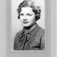 Portrait of Ruth Schmidt, circa 1932.