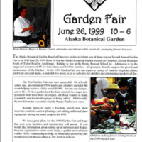Alaska Botanical Garden garden fair program, 1999