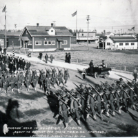 Parade held in honor of recruits, 1918