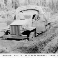 "The ""worser side"" of the Alaska Highway, Yukon Territory."