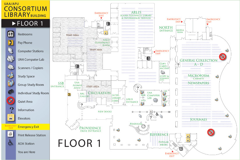 uaa campus map pdf Library Building Map Uaa Apu Consortium Library